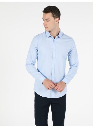 Colin's Super Slim Fit Shirt Neck Erkek Açık Mavi Uzun Kol Gömlek Mavi